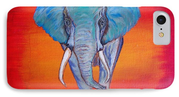 IPhone Case featuring the painting Elephant Matriarch by Ella Kaye Dickey