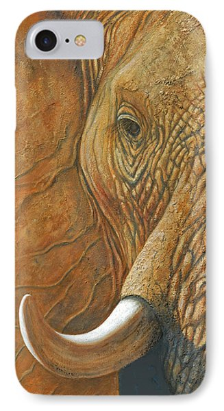 Elephant Matriarch Portrait Close Up IPhone Case