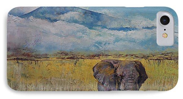 Elephant Savanna IPhone Case by Michael Creese