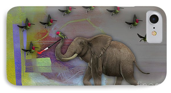 Elephant Painting IPhone Case by Marvin Blaine