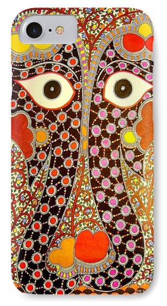 Elephant Pair-madhubani Paintings IPhone Case
