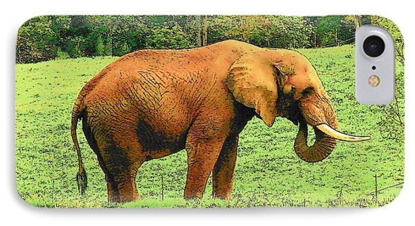 IPhone Case featuring the photograph Elephant by Rodney Lee Williams