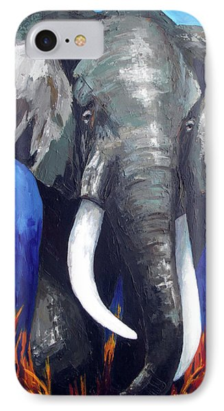 Elephant - The Gentle IPhone Case by Patricia Awapara