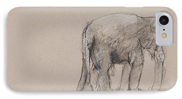 Elephant Charcoal Study #1 IPhone Case