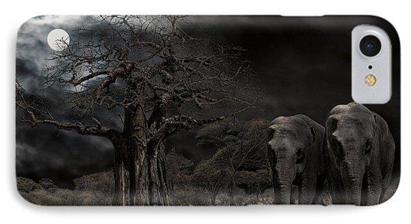 Elephants Of The Serengeti Phone Case by Daniel Hagerman