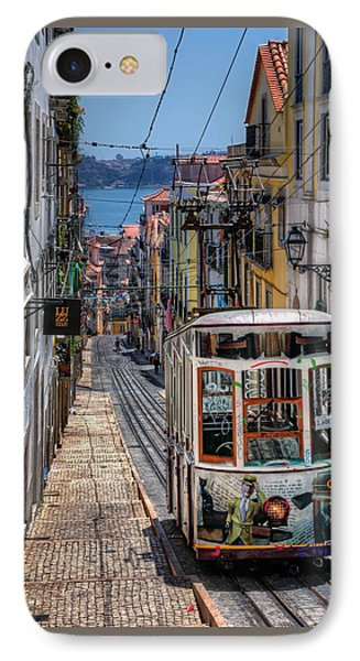 Elevador Da Bica Lisbon IPhone Case by Carol Japp