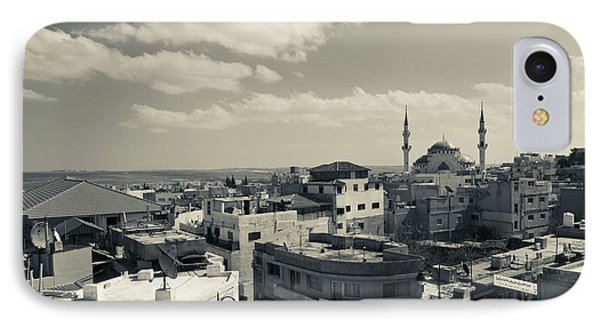 Elevated Town View With Mosque, Madaba IPhone Case