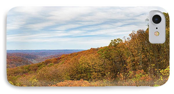 Elevated View Of Autumn Trees, Brown IPhone Case by Panoramic Images