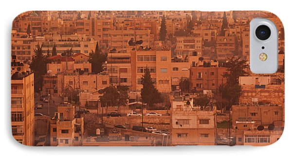 Elevated View Of Jebel Amman Area IPhone Case