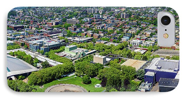 Elevated View Of Keyarena, Seattle IPhone Case by Panoramic Images