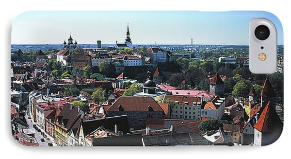 Elevated View Of Old Town, Tallinn IPhone Case