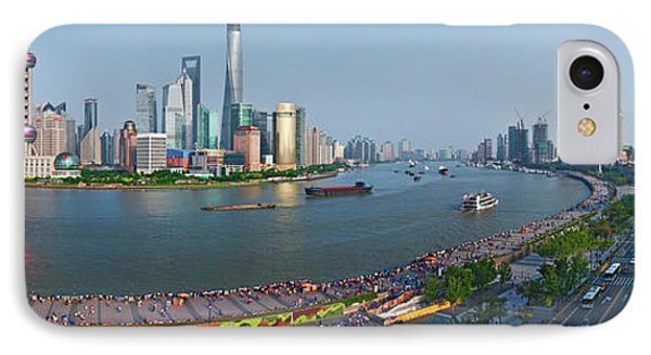 Shanghai iPhone 7 Case - Elevated View Of Skylines, Oriental by Panoramic Images