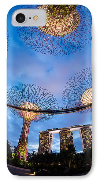 Elevated Walkway At Gardens By The Bay IPhone Case