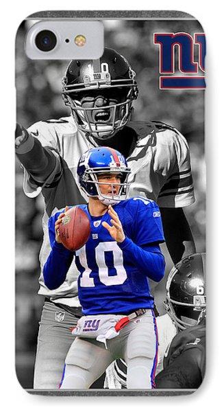 Eli Manning Giants IPhone Case by Joe Hamilton