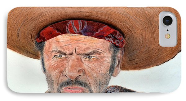 Eli Wallach As Tuco In The Good The Bad And The Ugly Phone Case by Jim Fitzpatrick