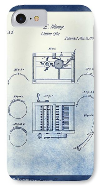 Eli Whitney's Cotton Gin Patent IPhone Case by Dan Sproul