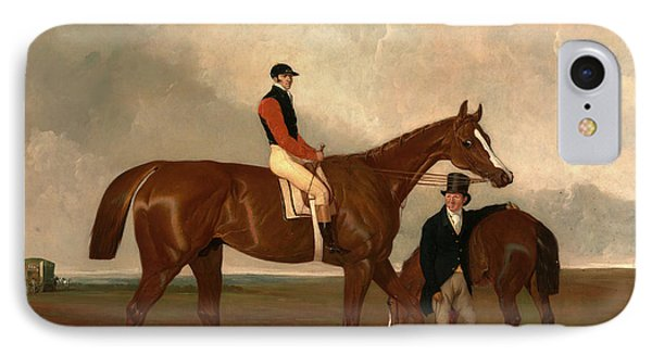 Elis At Doncaster, Ridden By John Day, With His Van IPhone Case by Litz Collection