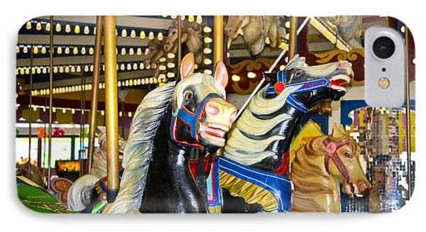 Elizabeth And Friends- Carousel Ponies IPhone Case by Colleen Kammerer