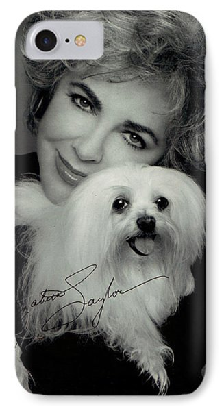 Elizabeth Taylor And Friend Phone Case by Studio Photo