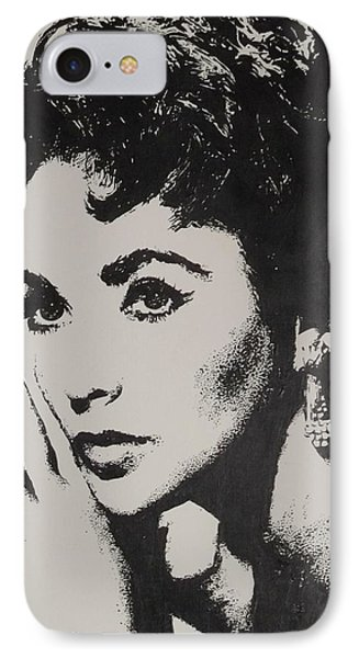 IPhone Case featuring the painting Elizabeth Taylor  by Cherise Foster