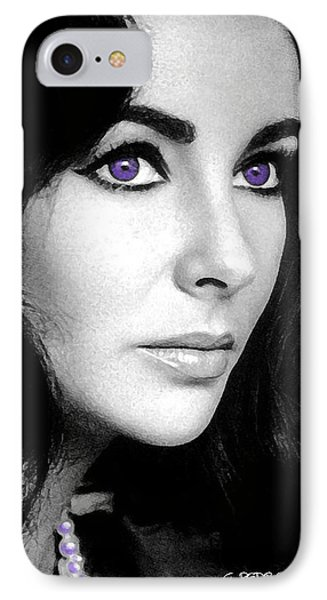 Elizabeth Taylor IPhone Case by George Pedro