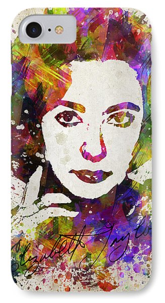 Elizabeth Taylor In Color IPhone 7 Case by Aged Pixel