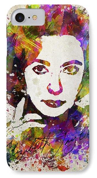 Elizabeth Taylor In Color IPhone 7 Case
