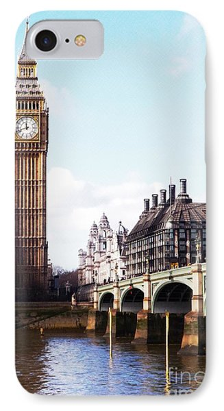 Elizabeth Tower On The Thames Phone Case by Jessica Panagopoulos