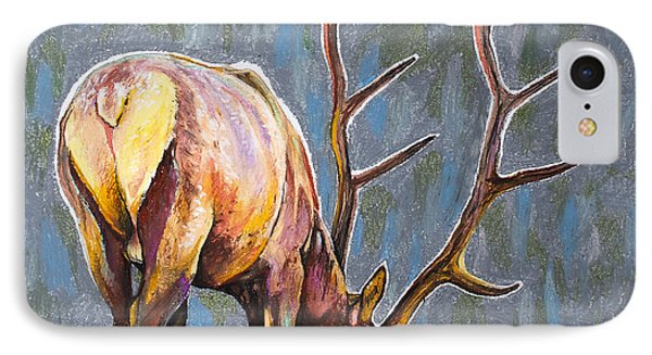 IPhone Case featuring the painting Elk by Aaron Spong