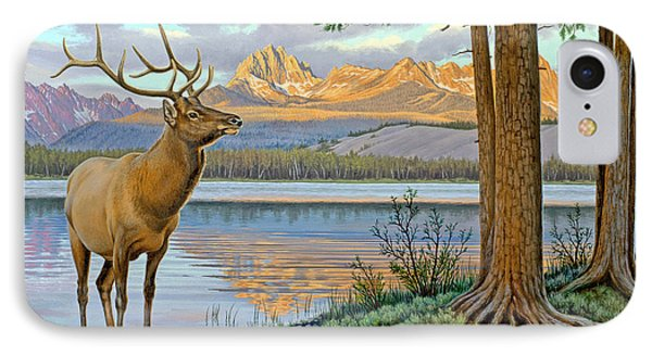 Elk In The Sawtooths IPhone Case by Paul Krapf