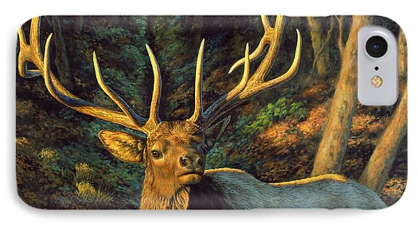 Elk Painting - Autumn Majesty Phone Case by Crista Forest