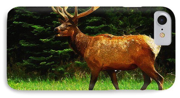 Elk Portrait IPhone Case
