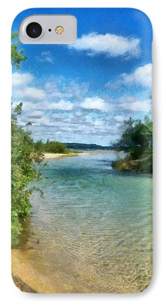 Elk River- Elk Rapids Michigan IPhone Case by Michelle Calkins