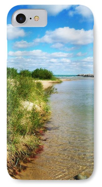 Elk River With Fluffy Clouds IPhone Case by Michelle Calkins