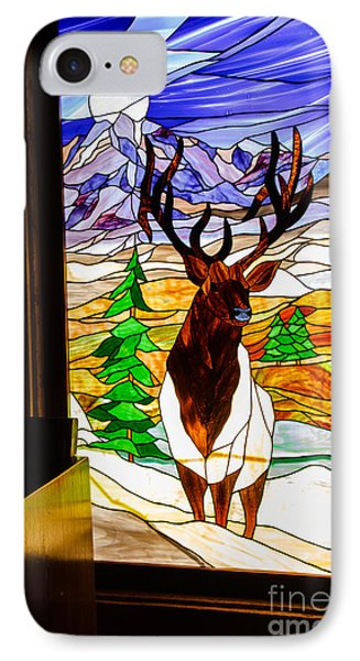Elk Stained Glass Window Phone Case by Robert Bales