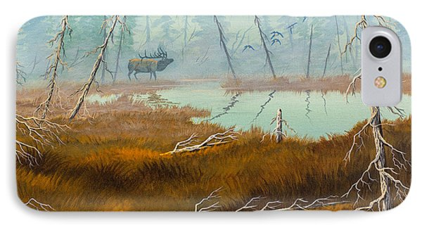 IPhone Case featuring the painting Elk Swamp by Richard Faulkner