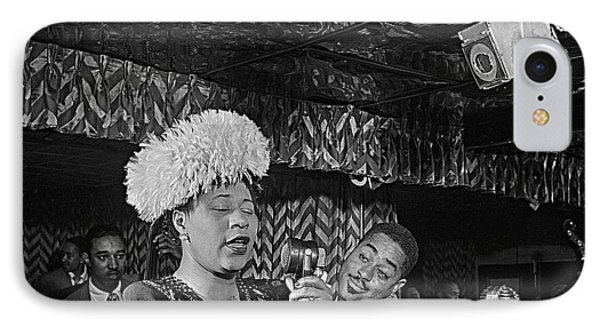 Ella Fitzgerald And Dizzy Gillespie William Gottleib Photo Unknown Location September 1947-2014. IPhone Case by David Lee Guss