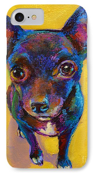 IPhone Case featuring the painting Ella The Chihuahua by Robert Phelps
