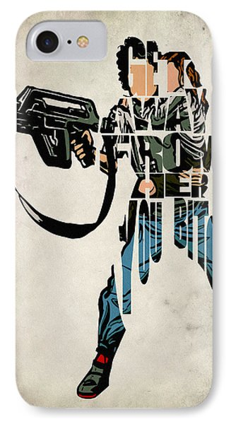 Ellen Ripley From Alien IPhone 7 Case by Ayse Deniz