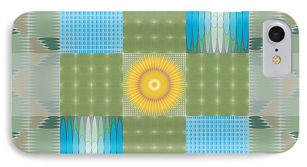 IPhone Case featuring the digital art Ellipse Quilt 1 by Kevin McLaughlin