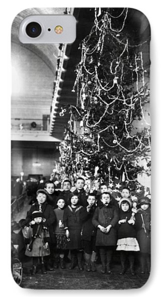 Ellis Island: Christmas, 1920 IPhone Case by Granger