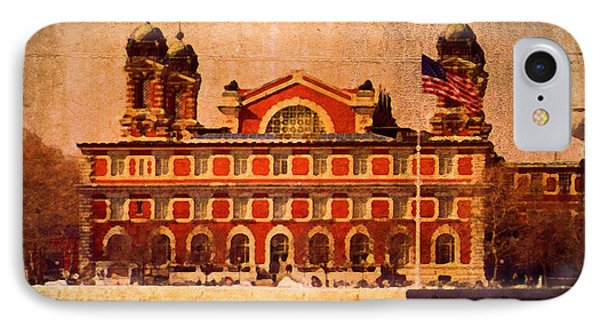 Ellis Island IPhone Case by Timothy Bulone