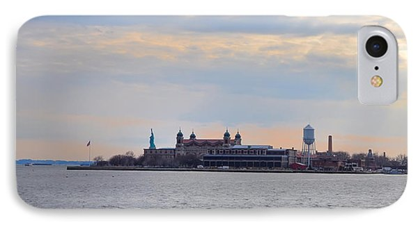 Ellis Island With The Statue Of Liberty IPhone Case
