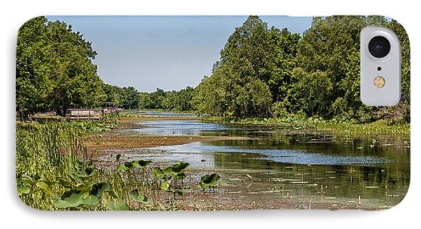 IPhone Case featuring the photograph Elm Lake At Brazos Bend In Texas by Zoe Ferrie