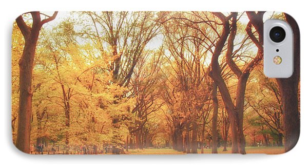 Elm Trees - Autumn - Central Park Phone Case by Vivienne Gucwa