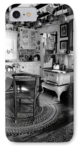 Eloise's Kitchen Bw IPhone Case by Cindy McIntyre