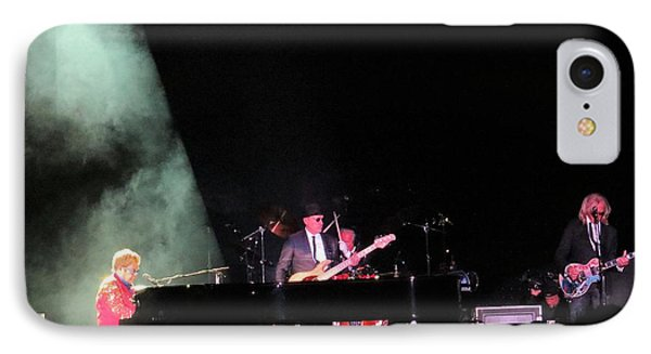 Elton And Band IPhone Case by Aaron Martens