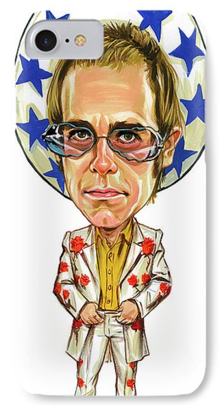 Elton John IPhone Case by Art