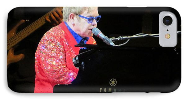 Elton John Live IPhone Case by Aaron Martens