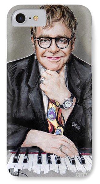 Elton John IPhone 7 Case by Melanie D